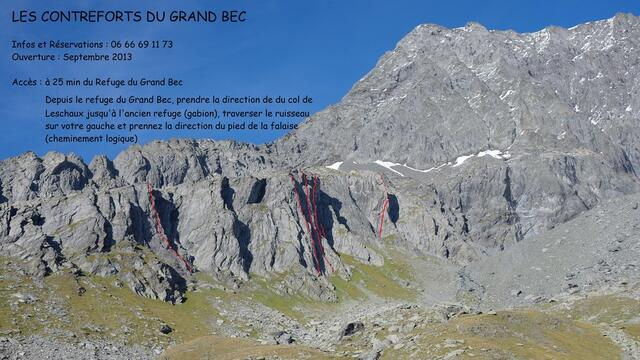 Les contreforts du Grand Bec